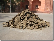 Dung pile to burn for Holi Festival of colors